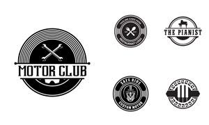 圆形样式黑白标志创意设计矢量素材