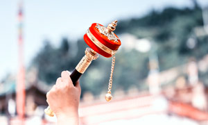 塔爾寺轉經輪攝影圖片