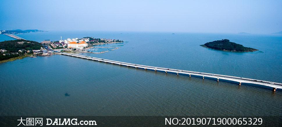 苏州太湖大桥美景摄影图片