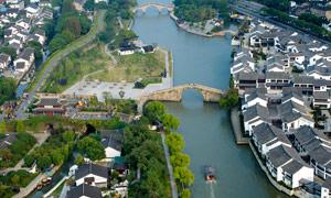 蘇州盤門景區建筑攝影圖片