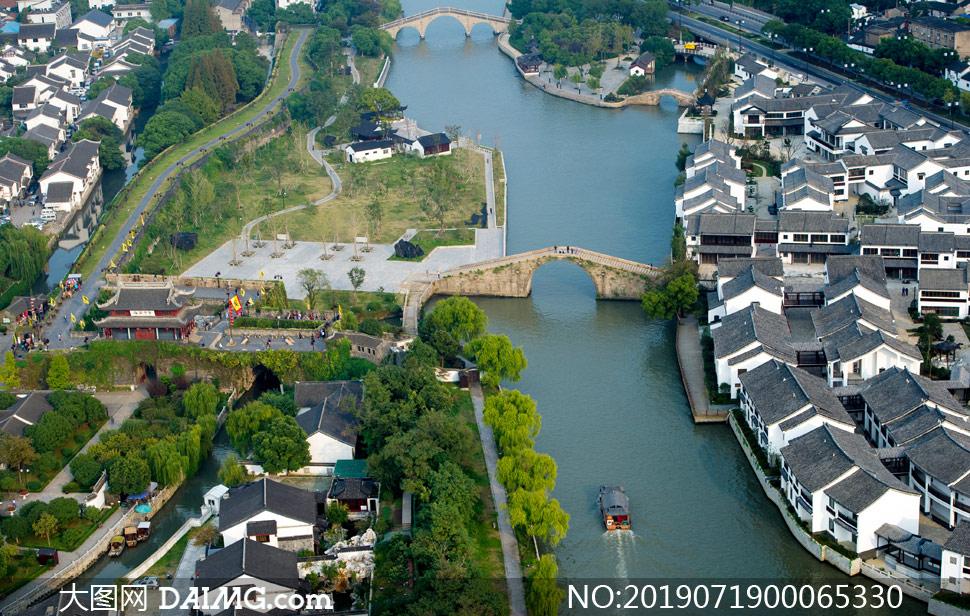 苏州盘门景区建筑摄影图片