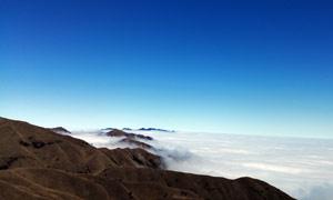 武功山山頂美麗風光攝影圖片