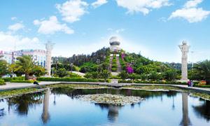 大理明珠廣場美麗景觀攝影圖片