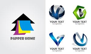 立体质感字母标志创意设计矢量素材