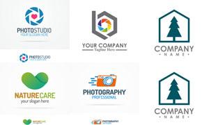 摄影与环保等创意标志设计矢量素材