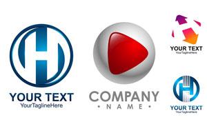 字母箭头元素创意标志设计矢量素材