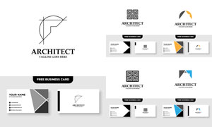标志及其名片版式设计矢量素材V072