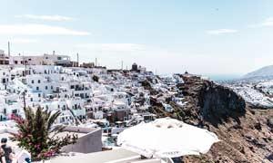 希腊建筑群景观高清摄影图片