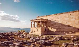 希腊古建筑遗址高清摄影图片