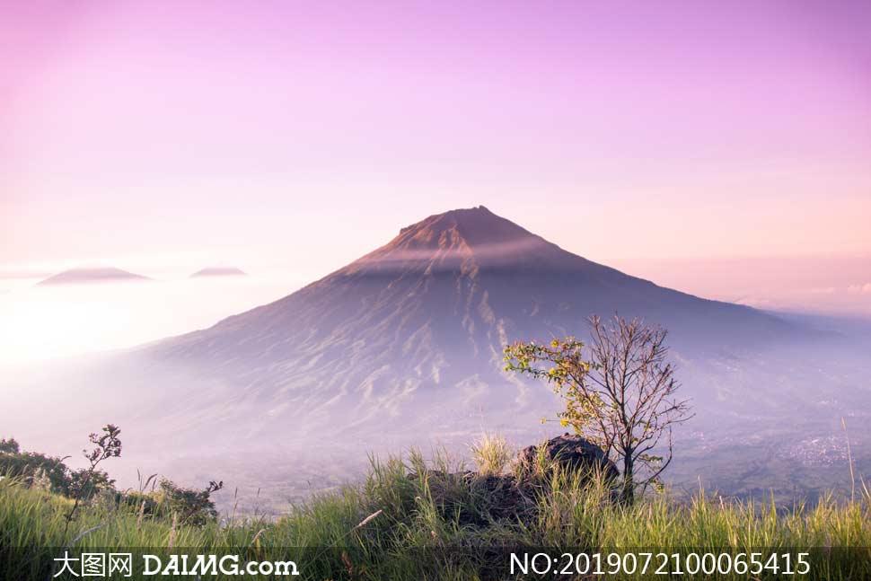 美丽的火山景观摄影图片