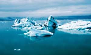 海上冰川美景高清摄影图片
