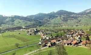 瑞士田园风光和城镇摄影图片