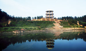湖泊倒影和景观图高清摄影图片