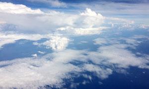 蓝天白云背景高清摄影图片