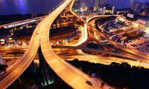 重庆美丽的立交桥夜景摄影图片