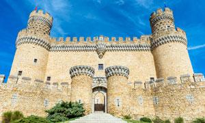 欧式城堡建筑摄影图片