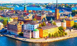 欧洲美丽的海边城市摄影图片