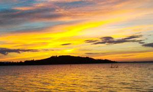 黄昏下海洋风光美景摄影图片