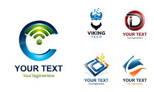 字母图形元素标志创意设计矢量素材