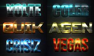 金属科技主题艺术字设计PS样式V4