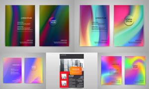 画册页面版式模板矢量素材集合V046
