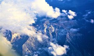 白云下的群山自然风景摄影高清图片