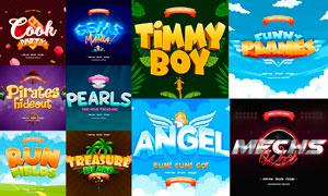 10款游戏标题主题风格PSD模板V3
