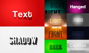 10款创意的字体阴影效果PSD模板