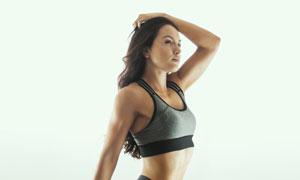 运动装扮翘臀美女人物摄影高清图片