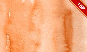 橘红色的水彩背景创意高清图片集V4
