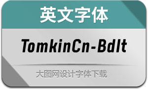 TomkinCn-BoldItalic(英文字体)