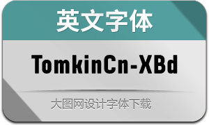 TomkinCn-ExtraBold(英文字体)