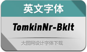 TomkinNr-BlackItalic(英文字体)
