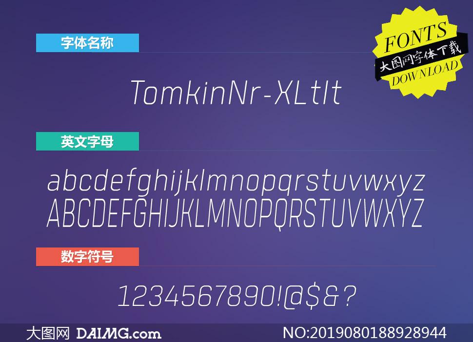 TomkinNr-ExtraLightIt(英文字体)