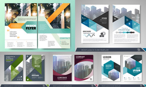 画册页面版式模板矢量素材集合V091