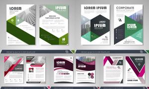 画册页面版式模板矢量素材集合V092