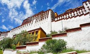 西藏布达拉宫一角摄影图片