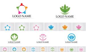 多彩幾何圖案創意標志設計矢量素材