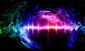 音频波形与炫丽曲线等创意高清图片