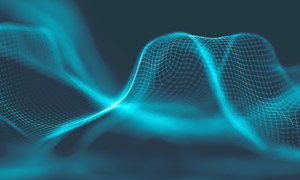 波动状态网状曲线创意设计高清图片