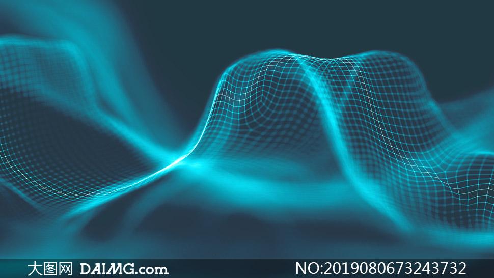 波动状态网状曲线创意设计高清图片图片