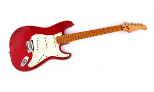 一把没有插电的电吉他摄影高清图片