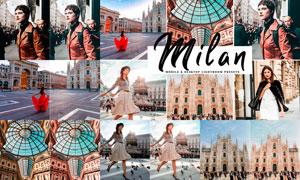 Milan系列中文版时尚人像效果PS动作