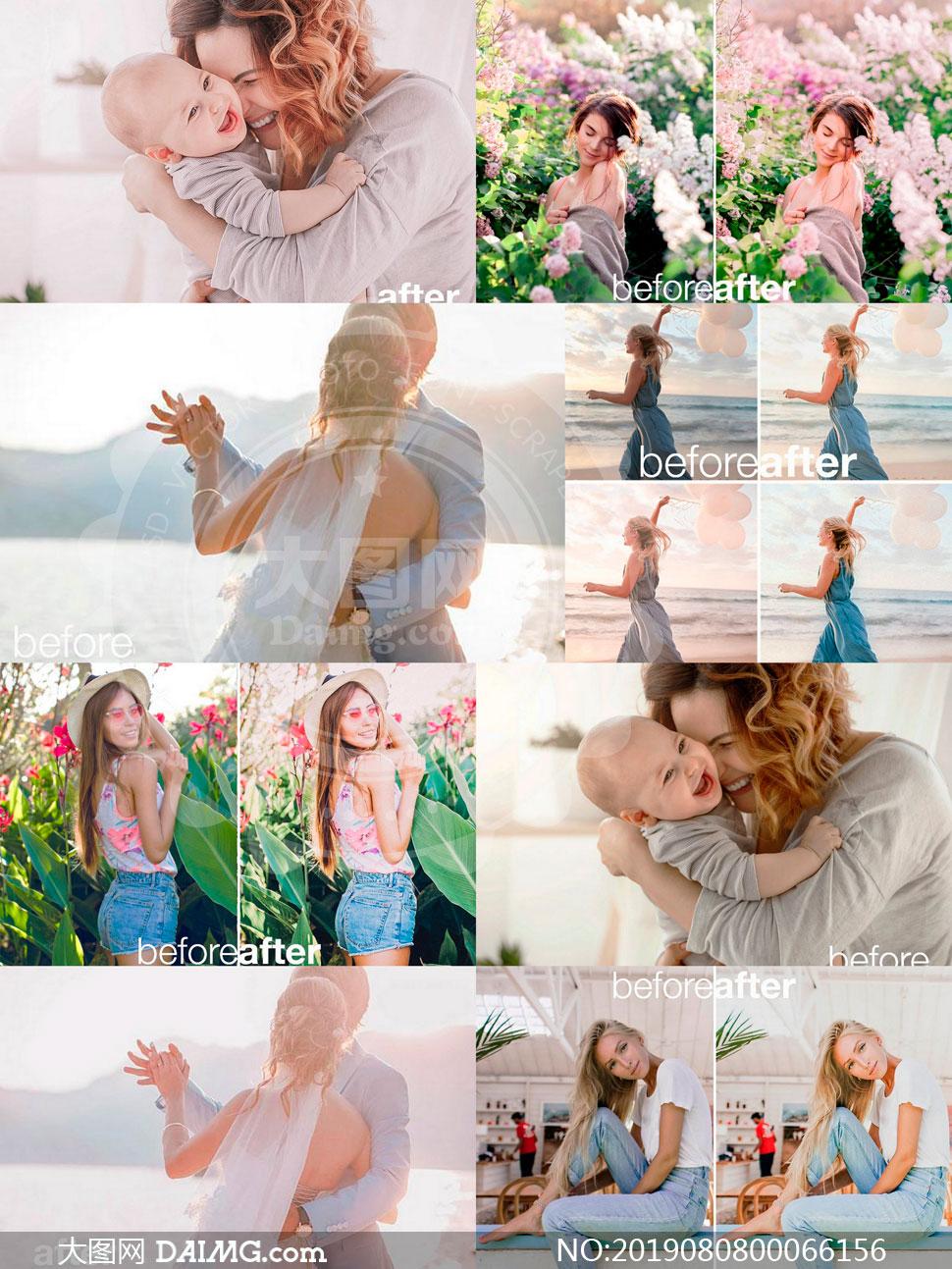 45款家庭照片粉彩效果移动端LR预设