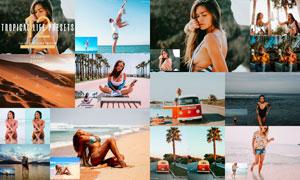12款热带旅游照片后期调色LR预设