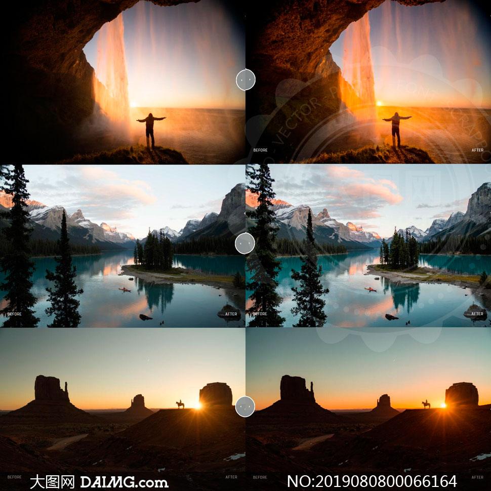 夕阳照片后期美化处理LR预设