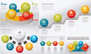 球体元素缤纷信息图表创意矢量素材