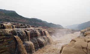 黄河上的壶口瀑布美景摄影图片