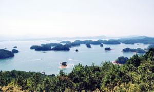 美丽的青岛湖景观高清摄影图片