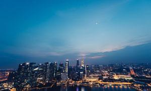 城市夜景俯瞰图高清摄影图片